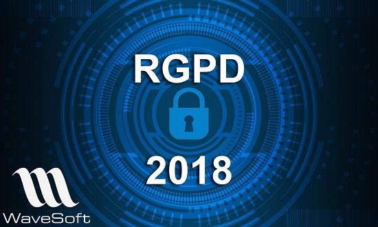 Mise en application du RGPD avec l'ERP WaveSoft