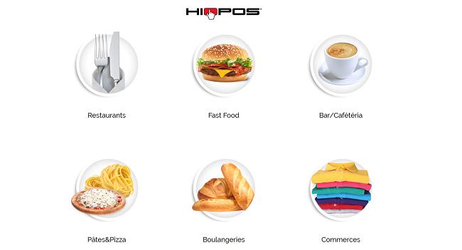 Les types de magasin gérés par Hiopos Cloud